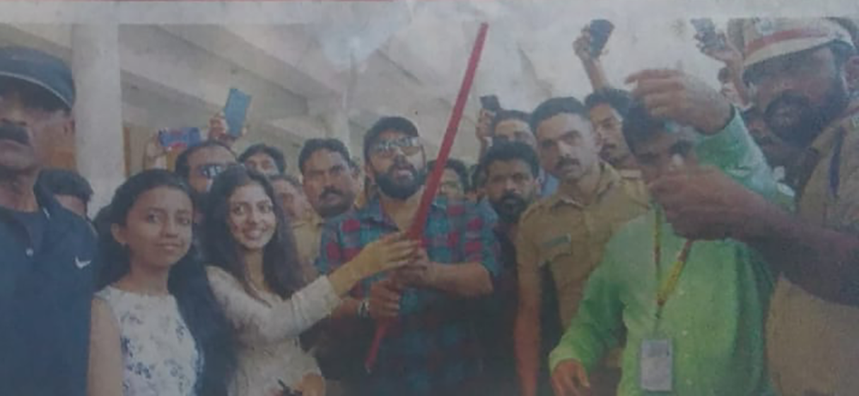 Bus shuttle flag off by Nivin Pauly